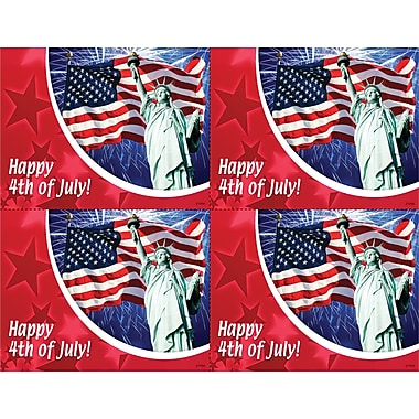 MAP Brand Photo Image Laser Postcards 4th of July