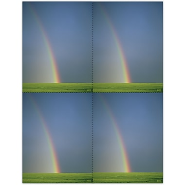 MAP Brand Scenic Laser Postcards Rainbow