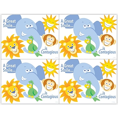 MAP Brand Graphic Image Laser Postcards Zoo Animals, Smile Contagious