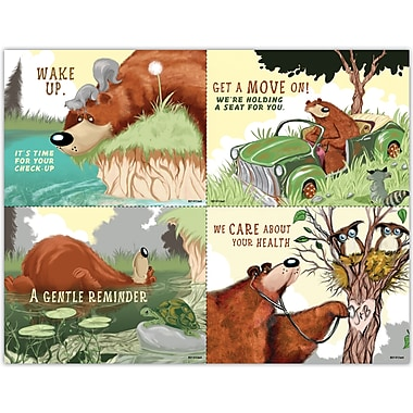 MAP Brand Graphic Image Assorted Laser Postcards Bear