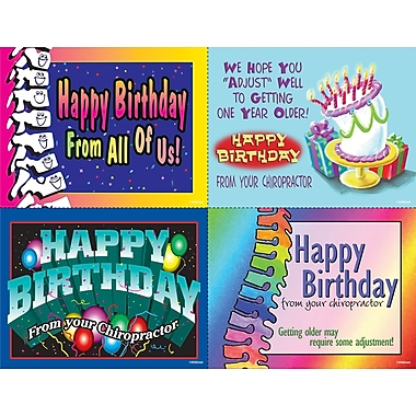 MAP Brand Graphic Image Assorted Laser Postcards Horizontal, Happy Birthday
