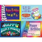 MAP Brand Graphic Image Assorted Laser Postcards Horizontal, Happy Birthday