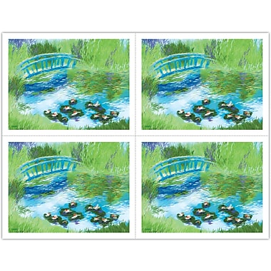 MAP Brand Scenic Laser Postcards Watercolor Bridge