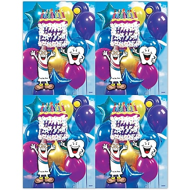 MAP Brand Smile Team Laser Postcards Cake and Balloons