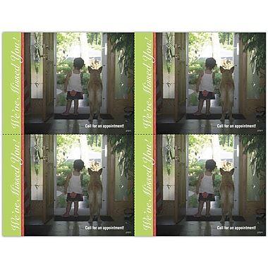 MAP Brand Photo Image Laser Postcards Curious Kid & Dog