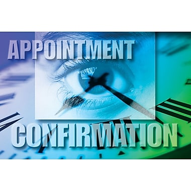 MAP Brand Photo Image Laser Postcards Eye-Time-Appointment Confirmation