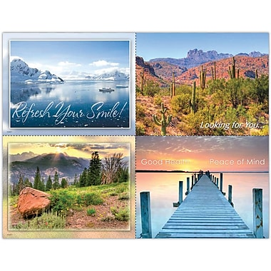 MAP Brand Scenic Assorted Laser Postcards Mountain and Desert