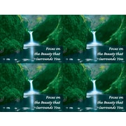 "MAP Brand Scenic Laser Postcards Waterfall, ""Focus on the Beauty that Surrounds You"""