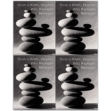 MAP Brand Inspirational Laser Postcards Balanced Rocks