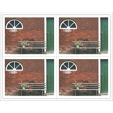 MAP Brand Scenic Laser Postcards Flower on Bench