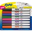 Expo Low Odor Dry-Erase Markers, Ultra Fine Point, Assorted, 8/Pack