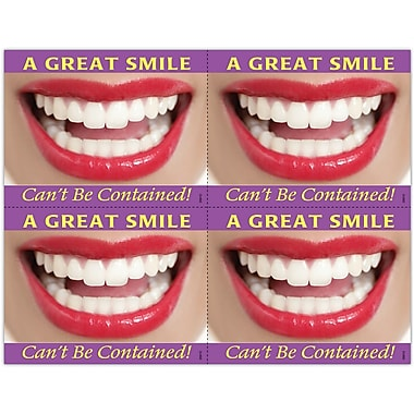 MAP Brand Cosmetic Dentistry Laser Postcards Great Smile Can't Be Contained
