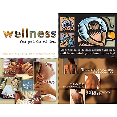 MAP Brand Graphic Image Assorted Laser Postcards Wellness
