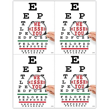 MAP Brand Graphic Image Laser Postcards Eye Chart Magnify