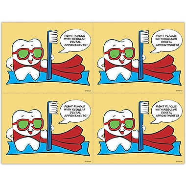 MAP Brand Toothguy Laser Postcards Fight Plaque
