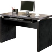 Coaster® Wood Peel Computer Desk With Keyboard Tray, Black/Brown