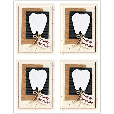 MAP Brand Graphic Image Laser Postcards Large Tooth