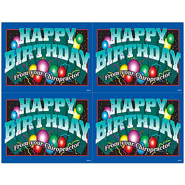MAP Brand Graphic Image Laser Postcards Happy Birthday