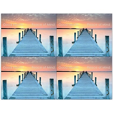 MAP Brand Scenic Laser Postcards Scenic Sunset Dock