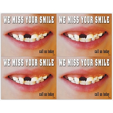 MAP Brand Pediatric Dentistry Laser Postcards Missing Teeth