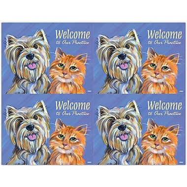 MAP Brand Graphic Image Laser Postcards Dog and Cat Drawing