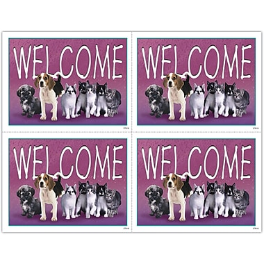 MAP Brand Photo Image Laser Postcards Welcome, Pets in a Line