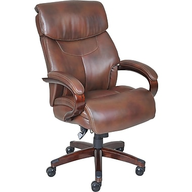 La Z Boy Bradley Leather Executive Office Chair Fixed