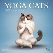 2015 Yoga Cats Wall Calendar, 12 x 12