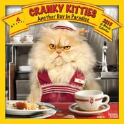2015 BrownTrout Publishers Cranky Kitties Monthly Wall Calendar, 12 x 12