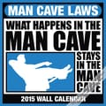 2015 BrownTrout Publishers Man Cave Laws Monthly Wall Calendar, 12in. x 12in.