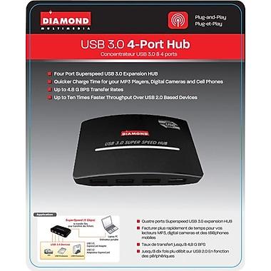 Diamond – Concentrateur à 4 ports haute vitesse Superspeed USB 3.0 USB304H