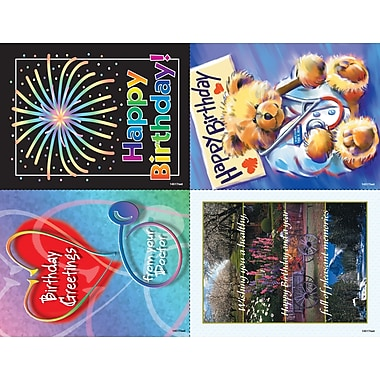 MAP Brand Scenic Assorted Laser Postcards Birthday Greetings