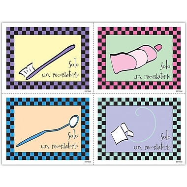 MAP Brand Spanish Assorted Laser Postcards Dental Items