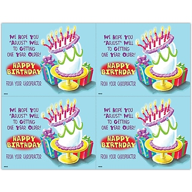 MAP Brand Humorous Laser Postcards Cartoon Cake with Presents