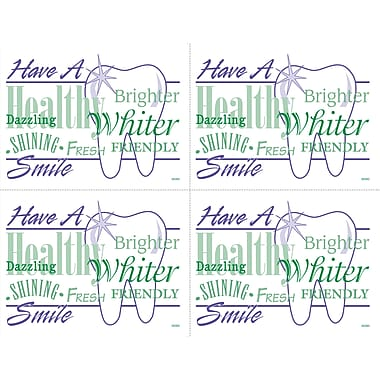 MAP Brand Graphic Image Laser Postcar Have a Whiter Smile