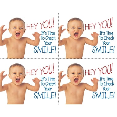 MAP Brand Humorous Laser Postcards Hey You! Smile Baby