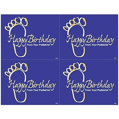MAP Brand Graphic Image Laser Postcards Blue and Gold Footprint