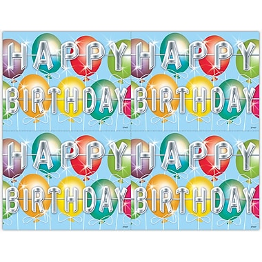 MAP Brand Graphic Image Laser Postcards Braces, Balloon