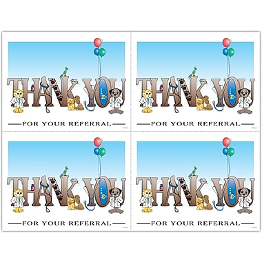 MAP Brand Graphic Image Laser Postcards Thank You For Your Referral