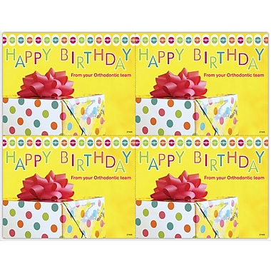 MAP Brand Graphic Image Laser Postcards Happy Birthday, Orthodontic, Present