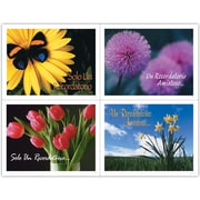 MAP Brand Spanish Assorted Laser Postcards Flowers