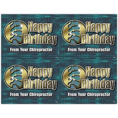 MAP Brand Graphic Image Laser Postcards Birthday, Green & Gold