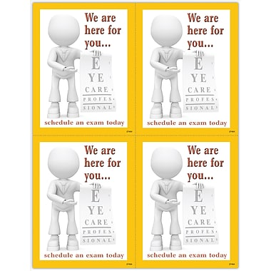 MAP Brand Graphic Image Laser Postcards Clay Guy, Eye Chart