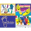 MAP Brand Graphic Image Assorted Laser Postcards in.Happy Birthdayin.
