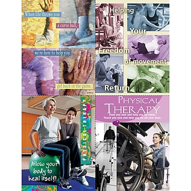 MAP Brand Photo Image Assorted Laser Postcards Helping Your Freedom of Movement, Physical Therapy