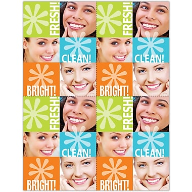 MAP Brand Graphic Image Laser Postcards Fresh, Clean, Bright