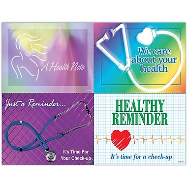 MAP Brand Graphic Image Assorted Laser Postcards Health Notes
