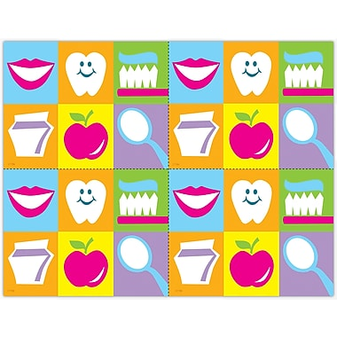 MAP Brand Graphic Image Laser Postcards Smile, Toothbrush Grid