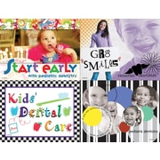 MAP Brand Photo Image Assorted Laser Postcards Start Early, Kids Dental care