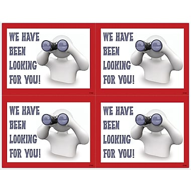 MAP Brand Graphic Image Laser Postcards Clay Guy, Binoculars
